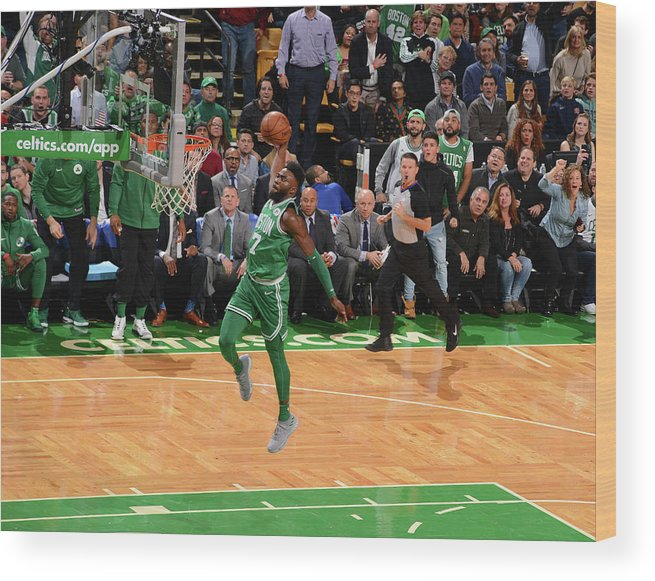 Nba Pro Basketball Wood Print featuring the photograph Jaylen Brown by Jesse D. Garrabrant