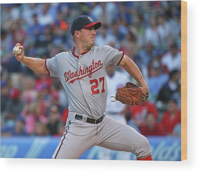 Three Quarter Length Wood Print featuring the photograph Jordan Zimmermann by Jonathan Daniel