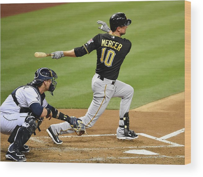 California Wood Print featuring the photograph Jordy Mercer by Denis Poroy