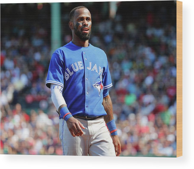 Three Quarter Length Wood Print featuring the photograph Jose Reyes by Winslow Townson