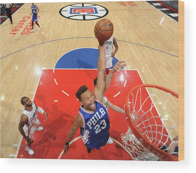 Nba Pro Basketball Wood Print featuring the photograph Justin Anderson by Andrew D. Bernstein