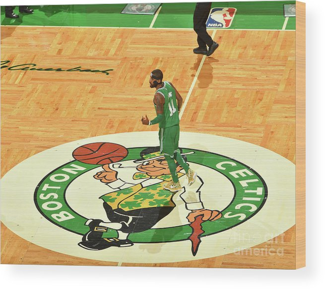 Nba Pro Basketball Wood Print featuring the photograph Kyrie Irving by Jesse D. Garrabrant