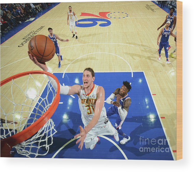Nba Pro Basketball Wood Print featuring the photograph Mike Muscala by Jesse D. Garrabrant