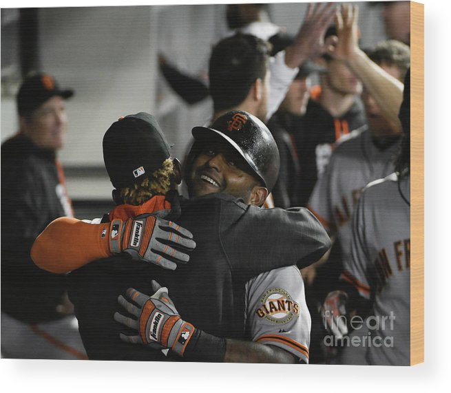 American League Baseball Wood Print featuring the photograph Pablo Sandoval by David Banks
