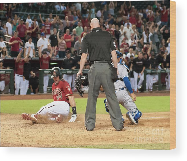 American League Baseball Wood Print featuring the photograph Paul Goldschmidt by Darin Wallentine