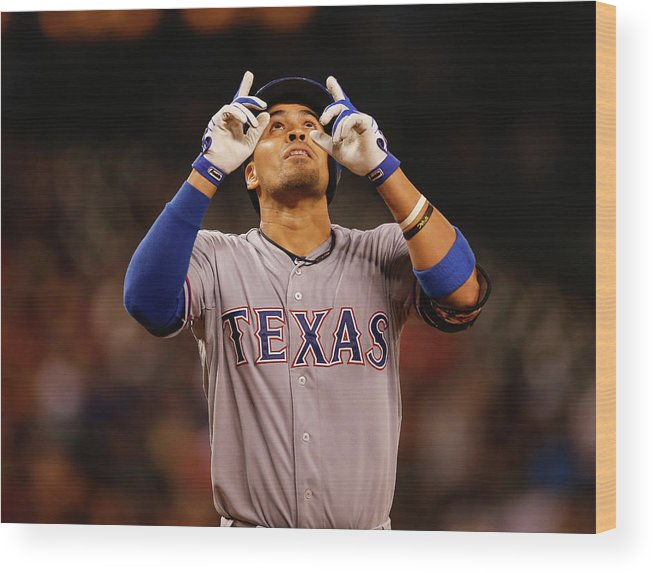 American League Baseball Wood Print featuring the photograph Robinson Chirinos by Otto Greule Jr