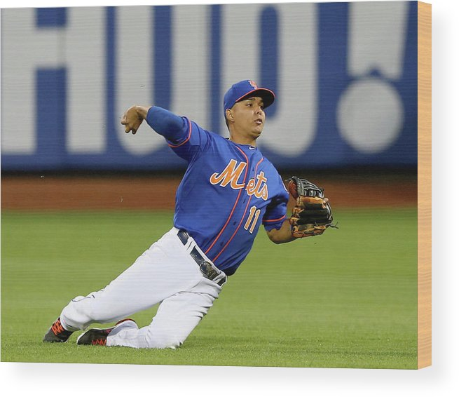Second Inning Wood Print featuring the photograph Ruben Tejada by Elsa