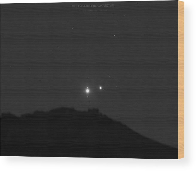 Wood Print featuring the photograph The Last sight of the Conjunction by Prabhu Astrophotography