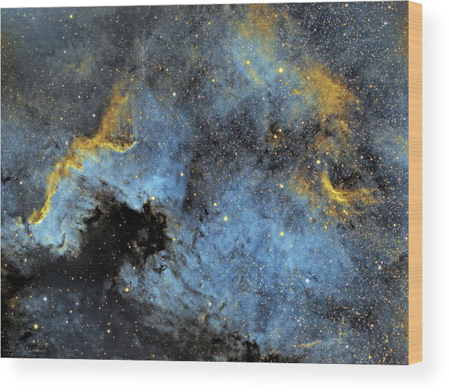 Nebula Wood Print featuring the photograph The North America Nebula by Prabhu Astrophotography