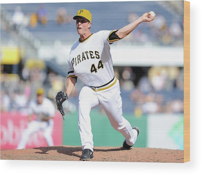Pnc Park Wood Print featuring the photograph Tony Watson by Joe Sargent