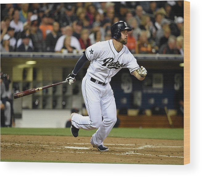 American League Baseball Wood Print featuring the photograph Yonder Alonso by Denis Poroy