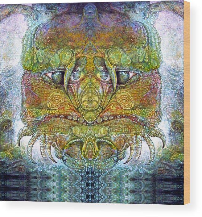 \bogomil Variations\ \otto Rapp\ \ Michael F Wolik\ Wood Print featuring the digital art Bogomil Variation 11 by Otto Rapp