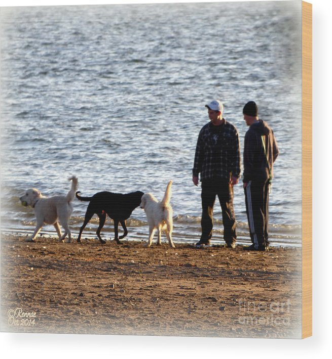 Lake Wood Print featuring the photograph Delta Lake Beach by Rennae Christman