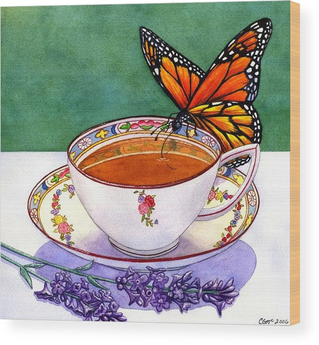 Butterfly Wood Print featuring the painting Sweet by Catherine G McElroy