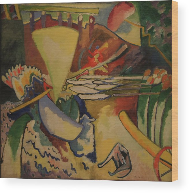 Wassily Kandinsky Wood Print featuring the painting Improvisation by Wassily Kandinsky