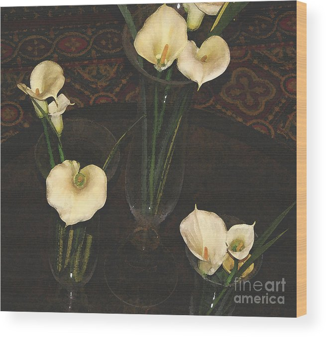 #flower Wood Print featuring the digital art Virtue by Jacquelinemari