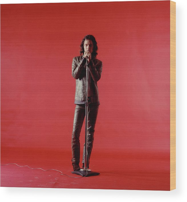 Rock Music Wood Print featuring the photograph Jim Morrison by Yale Joel