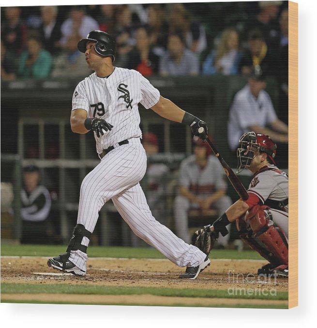 American League Baseball Wood Print featuring the photograph Arizona Diamondbacks V Chicago White Sox by Jonathan Daniel
