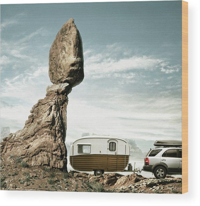 Camping Wood Print featuring the photograph Careless Camping by Colin Anderson
