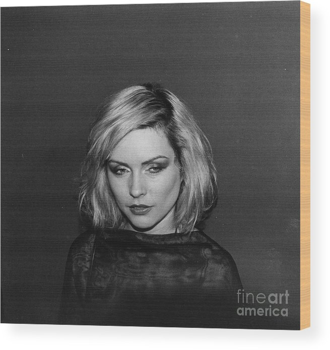Charity Benefit Wood Print featuring the photograph Debbie Harry At Magique by Fred W. Mcdarrah