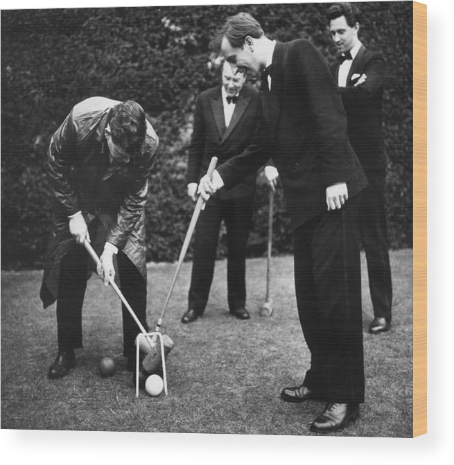 Recreational Pursuit Wood Print featuring the photograph Musical Croquet by Erich Auerbach