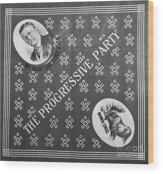 Art Wood Print featuring the photograph The Progressive Party Election Banner by Bettmann