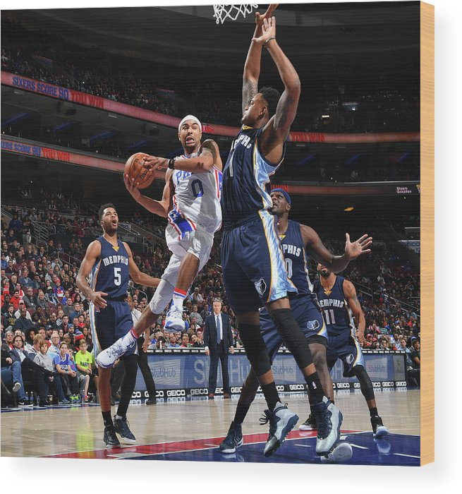 Nba Pro Basketball Wood Print featuring the photograph Jerryd Bayless by Jesse D. Garrabrant