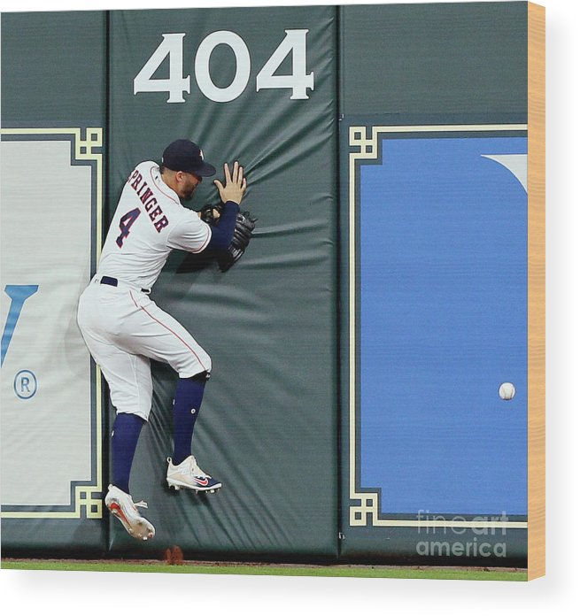 People Wood Print featuring the photograph Khris Davis and George Springer by Bob Levey