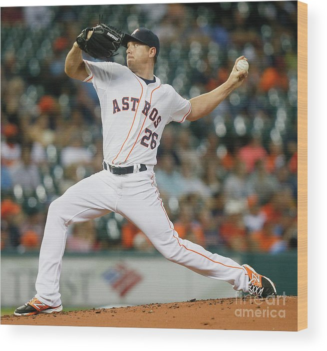 People Wood Print featuring the photograph Scott Kazmir by Bob Levey