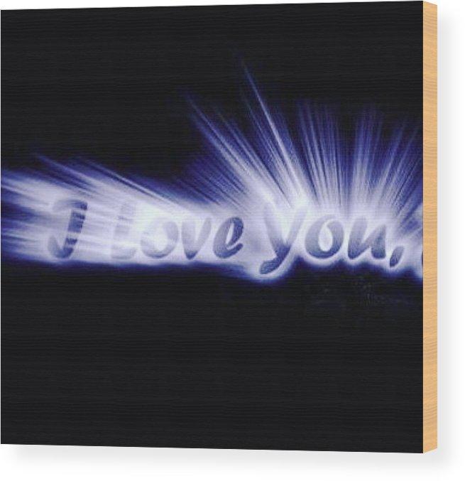 Love Wood Print featuring the digital art Burst Of Love by Ariana Torralba