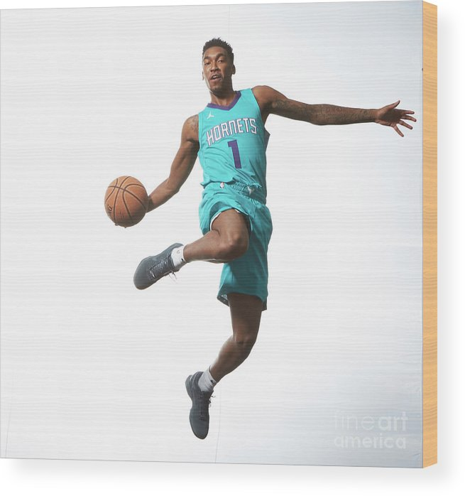 Nba Pro Basketball Wood Print featuring the photograph Malik Monk by Nathaniel S. Butler