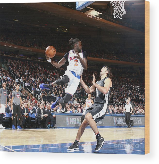 Nba Pro Basketball Wood Print featuring the photograph Maurice Ndour by Nathaniel S. Butler