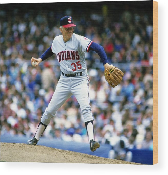 1980-1989 Wood Print featuring the photograph Phil Niekro by Ronald C. Modra/sports Imagery