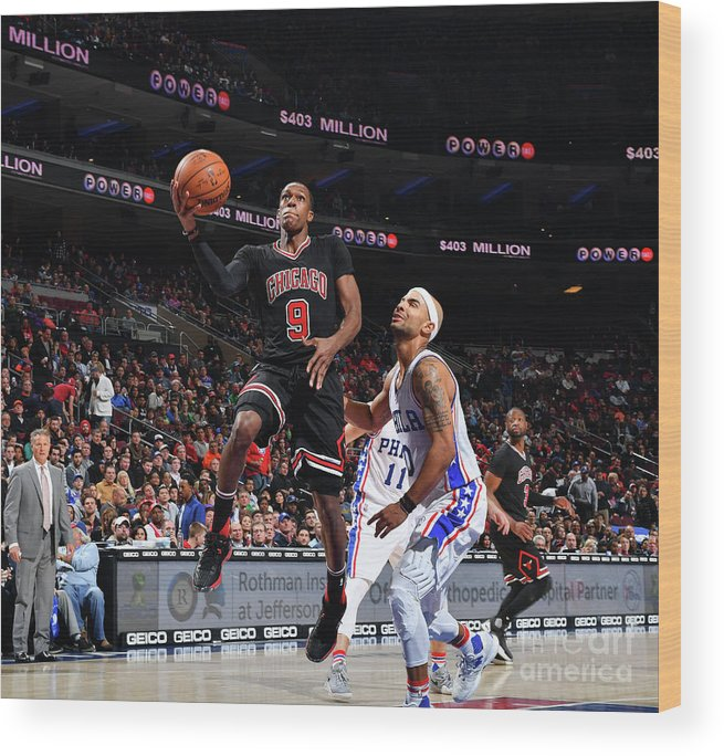 Nba Pro Basketball Wood Print featuring the photograph Rajon Rondo by Jesse D. Garrabrant