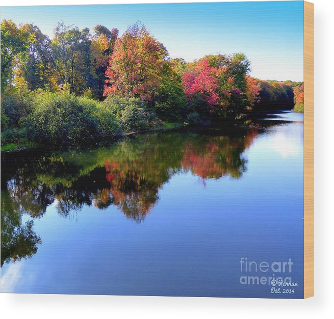 Landscape Wood Print featuring the photograph Fall Reflections by Rennae Christman