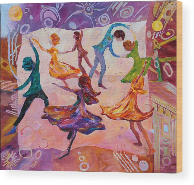 Dancing Wood Print featuring the painting I Could Have Danced All Night by Naomi Gerrard
