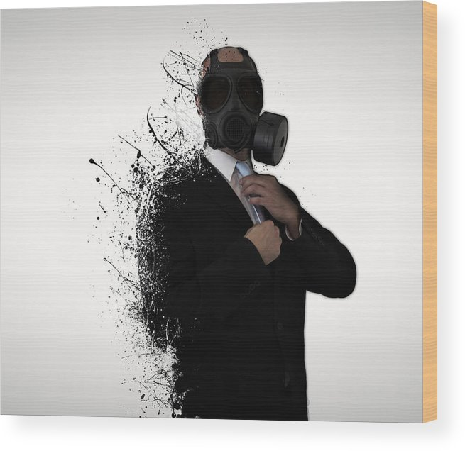 Gas Wood Print featuring the photograph Dissolution of man by Nicklas Gustafsson
