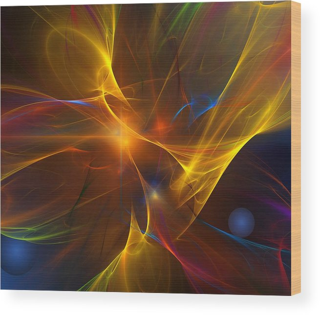 Fractal Wood Print featuring the digital art Energy Matrix by David Lane