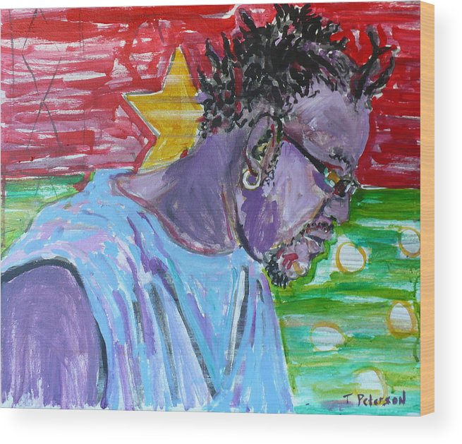 Acrylic Wood Print featuring the painting Man from Burkina Faso by Todd Peterson