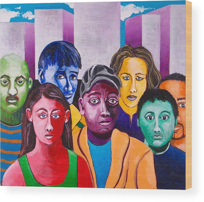 People Wood Print featuring the painting Parade II by Rollin Kocsis