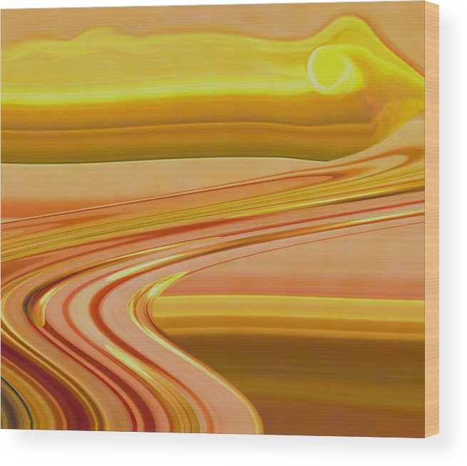 Sunset Art Wood Print featuring the digital art Sands of Time by Linda Sannuti
