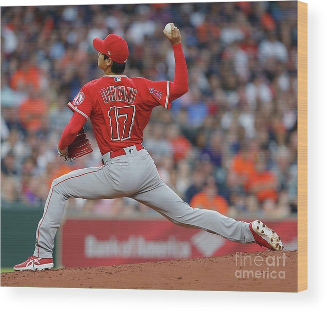 Second Inning Wood Print featuring the photograph Los Angeles Angels Of Anaheim V by Bob Levey