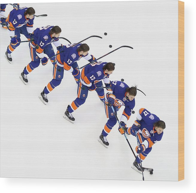 National Hockey League Wood Print featuring the photograph Los Angeles Kings V New York Islanders by Bruce Bennett