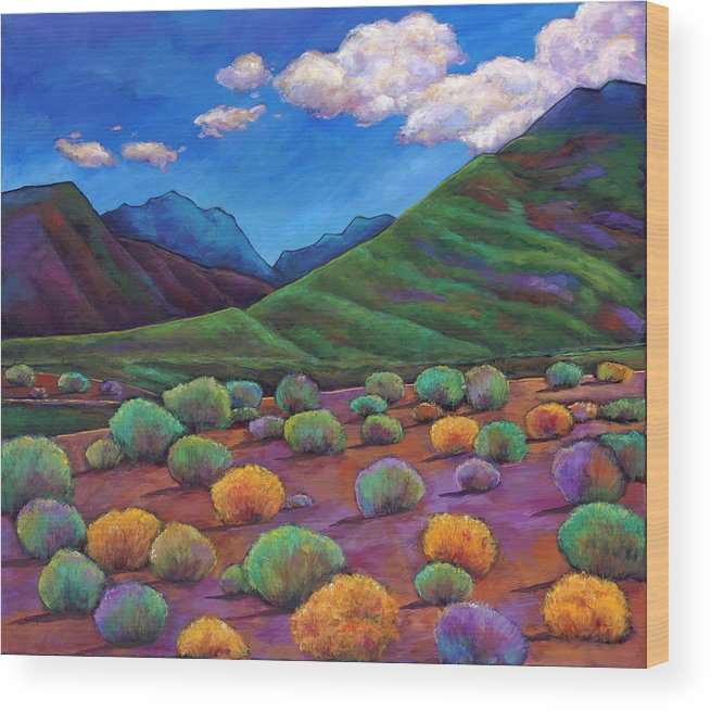 Arizona Wood Print featuring the painting Desert Valley by Johnathan Harris