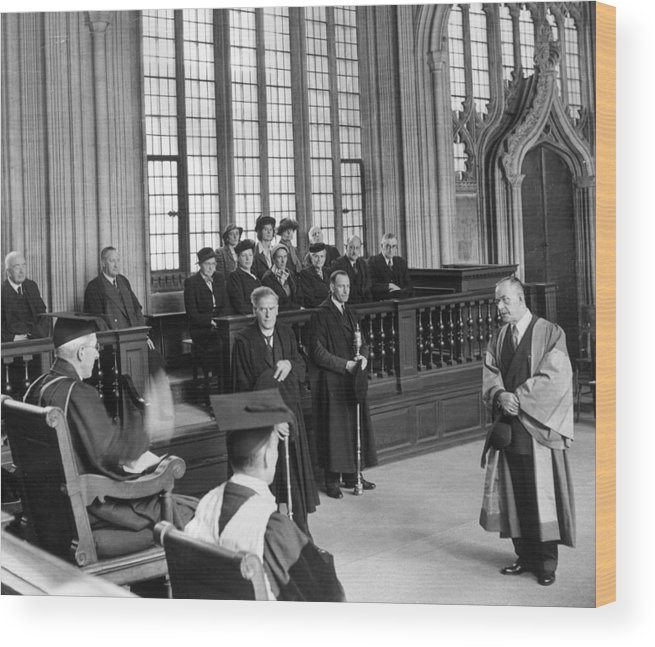 Education Wood Print featuring the photograph Doctor Of Literature by Erich Auerbach