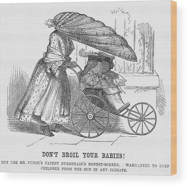 Engraving Wood Print featuring the drawing Dont Broil Your Babies, 1859 by Print Collector