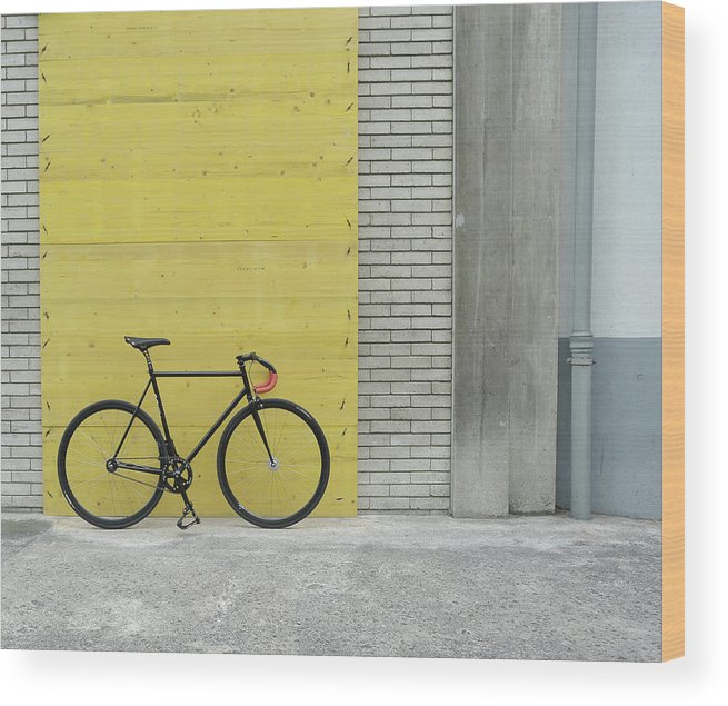 Tranquility Wood Print featuring the photograph Fixie by Gaëtan Rossier - Switzerland