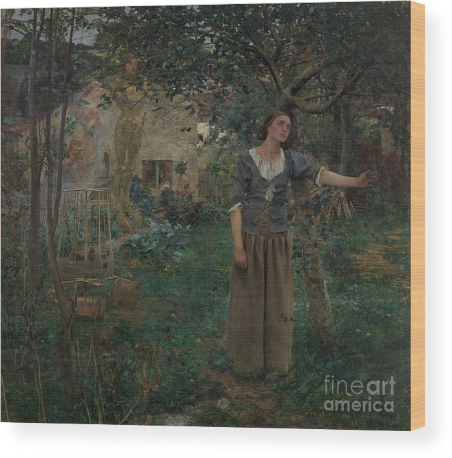 Oil Painting Wood Print featuring the drawing Joan Of Arc by Heritage Images