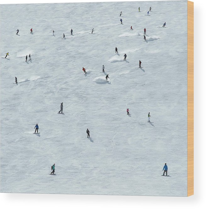 Skiing Wood Print featuring the photograph Skiing In Mayrhofen Austria by Mike Harrington