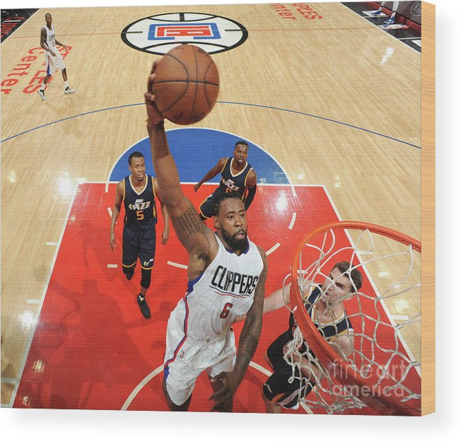 Playoffs Wood Print featuring the photograph Deandre Jordan by Andrew D. Bernstein